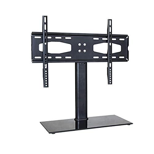 Soporte de pared universal para TV de sobremesa, soporte fijo de pared para TV, soporte de pared para TV ultradelgado para TV de 32-55 pulgadas, LCD, plasma, Full HD, Max VESA 400x400, capacidad 60 k