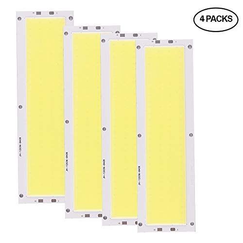 Konesky COB LED Chips 20W LED Light Chip Beads Bajo consumo de energía Lámpara súper brillante Wick Cool White (4 Pack)