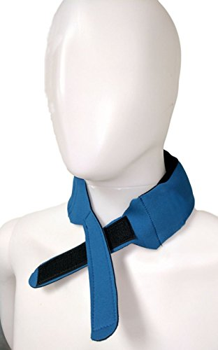 Cool + Relief Cooling Ice Pack Bandana - 16 x 2.5 x 0.8 Inch Head Wrap with Cool Pads (Pack of One) in Blue