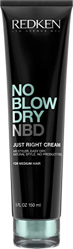 Redken No Blow Dry Just Right Cream | For Medium Hair | Lightweight Air Dry Styler Controls Frizz |...