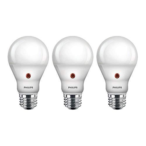 photography light bulbs home depots Philips LED Dusk-To-Dawn Outdoor A19 Light Bulb, Flicker-Free, 800 Lumen, Soft White Light (2700K), 8W=60W, E26 Base, 3-Pack