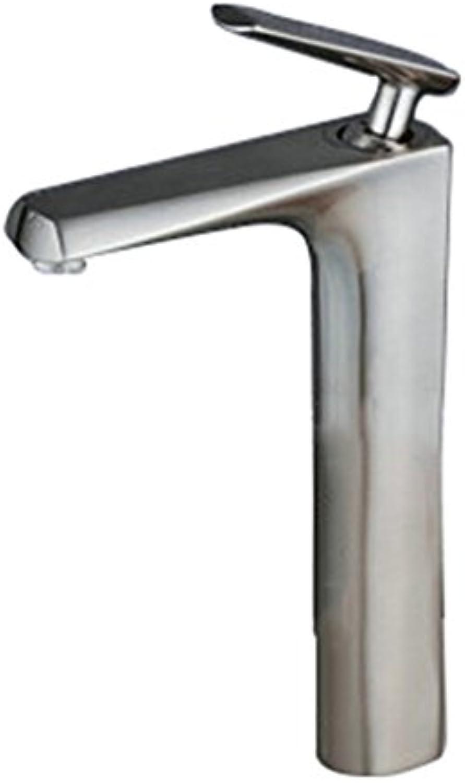 LaaN Tisch Becken Wasserhahn Warm und Kalt Hohe Retro Wasserhahn Kupfer Schwarz Waschbecken Toilette Einhand Einlochmontage Küchenarmatur (Farbe   J)