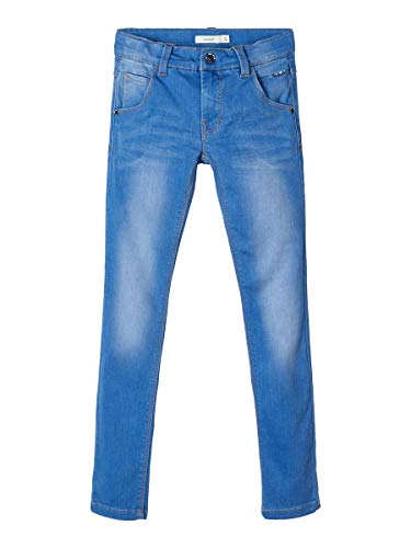 NAME IT Herren X-Slim Fit Jeans Super Stretch 146Medium Blue Denim