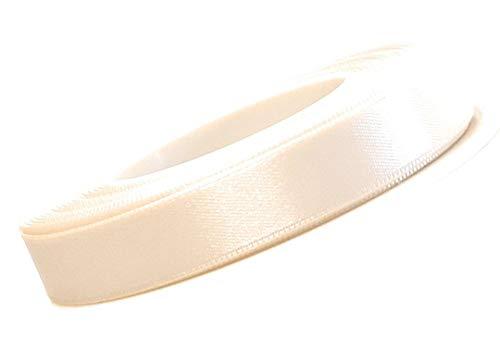 Konrad Arnold Satinband 25m x 10mm Creme Elfenbein Dekoband Geschenkband Schleifenband