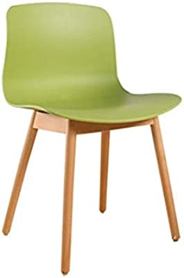 WALNUT Simple Modern Dining Chair Solid Wood Foot Leisure Home Back Chair Designer Plastic Coffee Chair (Color : B)