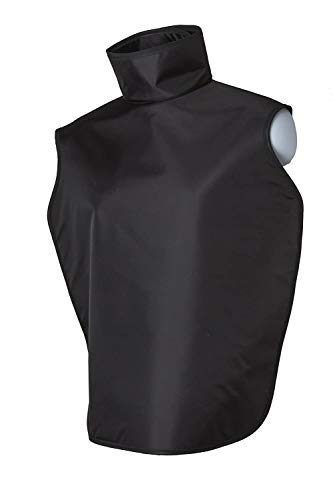 Dental Radiation X-Ray Lead Apron with Collar and Hanging Loops Lightweight Adult Assorted Colors (Black)