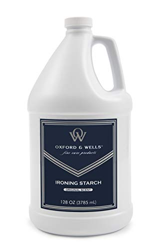 Oxford & Wells Premium Ironing Starch, Non-Aerosol, Gallon Refill Size