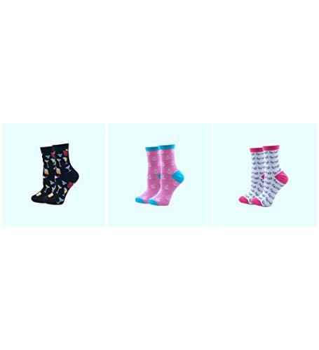 RTESBGH Novelty Sokken, Drank Boot Haak Patroon Nieuwigheid Zacht Gezellige Katoen Women'S Sokken Harajuku Kleurrijke Cartoon Leuke Grappige Kawaii Hond Kat Varken Fox Space Sokken Voor Vrouw