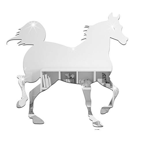 Vosarea Acryl Pferd Wandaufkleber Spiegel-Wandaufkleber Wanddeko Home Wohnzimmer Dekoration