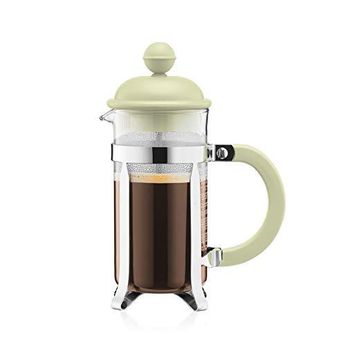 Bodum 1913-339B-Y19 CAFFETTIERA Kaffeebereiter mit Kunststoffdeckel, 3 Tassen, 0.35 l, Edelstahl, Glas