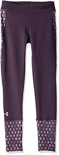 Under Armour Girls' Girl ColdGear Leggings , Nocturne Purple (595)/Purple Crest , Youth X-Large