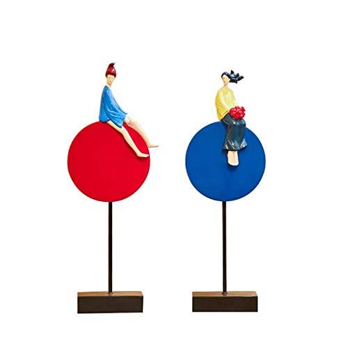 NHLBD Home decoratie/Feng Shui tafel Decoratie Moderne Minimalistische Woonkamer TV Kast Veranda Persoonlijkheid Decoratie Creatief Paar Personages Home Decoratie