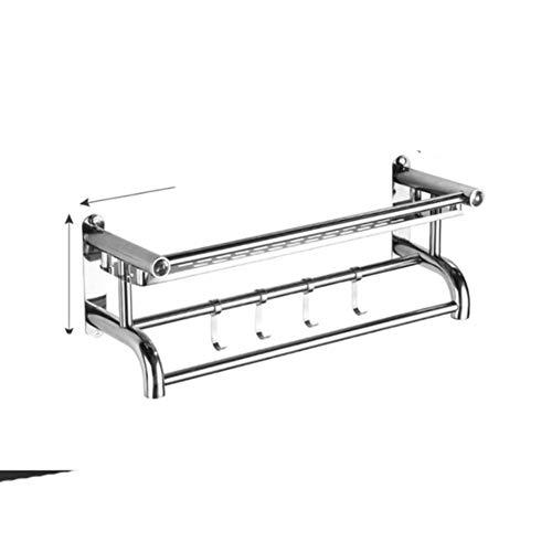 1/2/3 Niveles Toallero de Acero Inoxidable Perchero para Toallas Colgador de Toallas montado en la Pared Estante de Almacenamiento Cesta Ducha Barra de Toallas de baño Nuevo-Reino Unido, Capa única