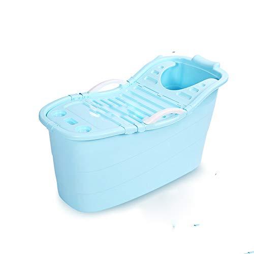 Bañera bañera Grande, plástico de hidromasaje, bañera portátil, Tina de niños, Adultos bañera,Azul