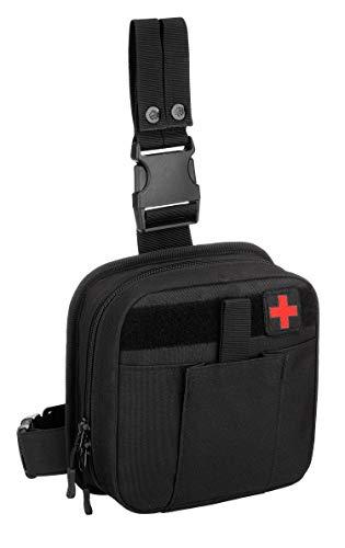 Yakmoo Multifunktionale Molle Tasche Taktischer Militärischer Erste-Hilfe-Kasten Molle System Notfalltasche Medizinischer Beutel Beintasche für Outdoors