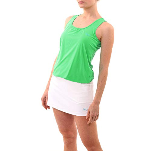 Sportkind - Camiseta de tirantes para mujer y niña, verde, L (Gr. 40-42)