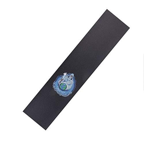 Mrjg Professionelle Skateboard Griptapes for Scooter Schmirgelpapier Sticky Firm Skate Deck Grips Aufkleber Doppel Rocker Skateboard Longboard (Color : Wizard)