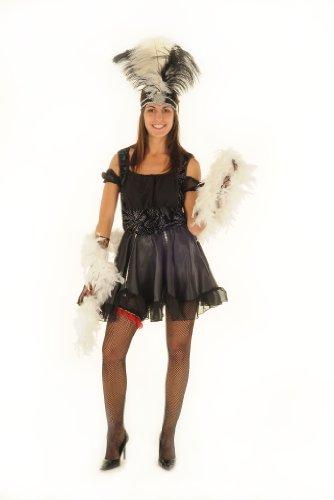 El cancán disfraz para mujer Can vestido de bailarina XS Gr.