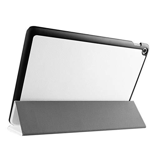 Funda Protectora para Tablet Textura de Custer Inversión Horizontal Funda de Cuero con Soporte Plegable 3 para ASUS ZenPad 10 / Z300 (Color : Blanco)