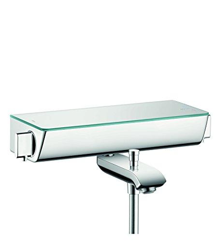 hansgrohe Ecostat Select Aufputz Wannenthermostat, für 2 Funktionen ohne Adapter zur Renovation, Chrom