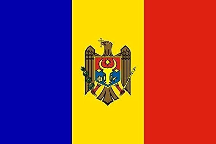 Haute Qualité pour U24Drapeau du Bateau la Moldavie drapeau 120x 180cm