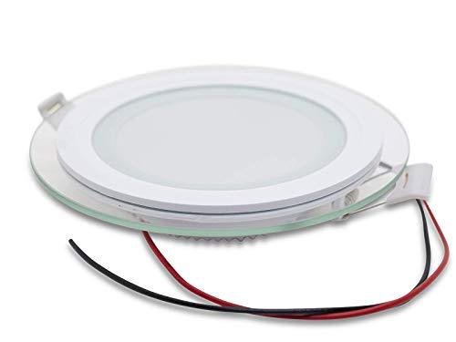 LED Einbauleuchte 24 Volt, Glasdesign, warmweiß, 20 Watt z.B. Loxone, DMX, Comexio, FHEM