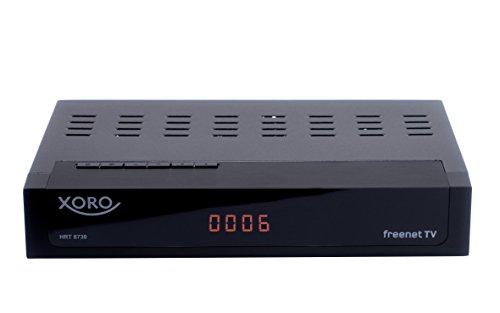 Xoro HRT 8730 + HDMI Full HD HEVC DVB-T/T2 Receiver (H.265, HDTV, kartenloses Irdeto-Zugangssystem für Freenet TV, Mediaplayer, PVR Ready, USB 2.0, 12V, 1,5m Kabel) schwarz