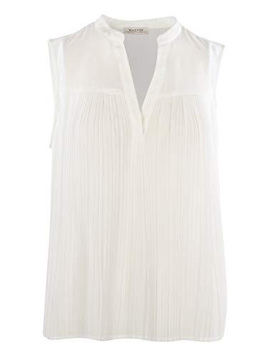 Malvin Damen Plissee-Bluse, White, (EU36)