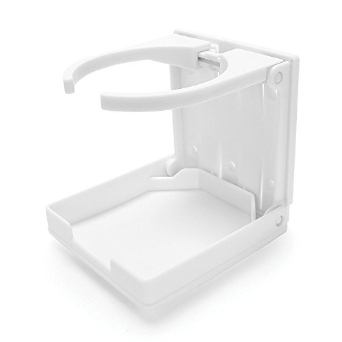 Camco Adjustable Drink Holder- Can Hold Mugs, Large Drinks and Almost Any Size Bottle or Can, Make Great Extra Cupholders for Cars, Trucks, RVs, Vans, Boats and Much More - White (44040)