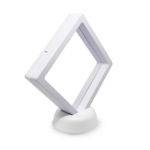 NoBrand Chanzexuan Suspension Boîte Broche Boîte Cadre d'affichage de Bijoux Cabinet (Color : White with Base)