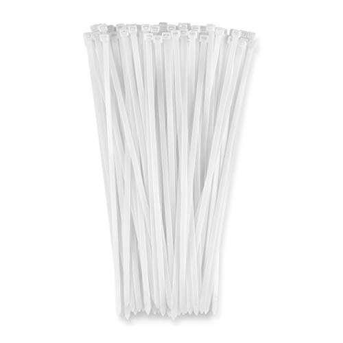 """15"""" White 120lb (100 Pack) Heavy Duty Zip Ties, Choose Size/Color, By Bolt Dropper"""