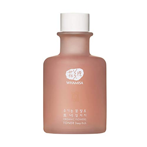 WHAMISA Organic Flowers Toner Deep Rich - Korean Skin Care Extra Feuchtigkeit Frische und verbesserte Hautstruktur - Koreanische Kosmetik Gesichtstonikum Fermentiert - 155ml