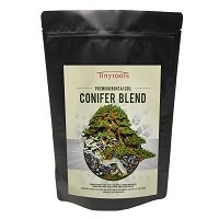 Conifer Bonsai Soil by Tinyroots – 100% Organic Formulated for Junipers, Black Pine, White Pine, Cedar Cypress and Other Conifers, 2 Quarts