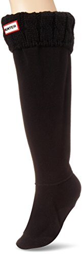 Calcetines Hunter, altos, originales, térmicos, para botas, unisex, adultos, 15 cm, color Negro, talla L