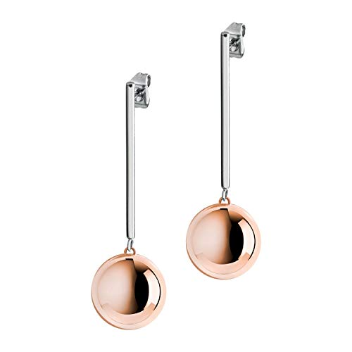Morellato SALY05 - Pendientes de acero inoxidable, color rosa