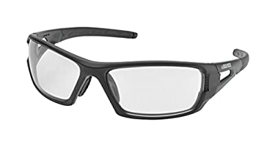 "Elvex WELSG61CAF Rimfire Tactical Sunglass Style Ballistic Eyewear in Clear with Supercoat Anti-Fog Lens, 2"" Height, 4"" Wide, 10"" Length, Polycarbonate, One Size"