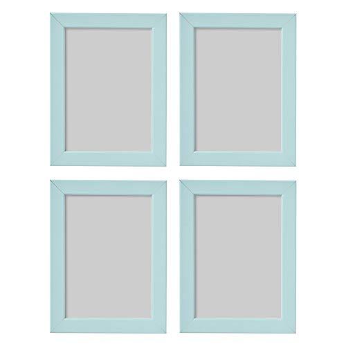 Ikea FISKBO Light Blue/Turquoise 13x18cm Photo Frames - Set of 4