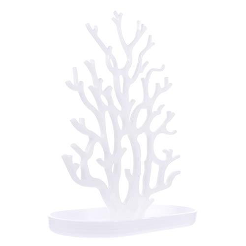 Cabilock Orecchino Cremagliera Gioielli Stand Torre di Visualizzazione Corallo Forma Orecchino Display Organizer Gioielli Titolari con Vassoio Vassoio Piatto Ornamento per Gioielli