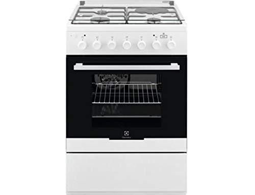 Cuisiniere mixte Electrolux EKM60900OW - Blanc - Plaque Gaz + électrique / Four Electrique Multifonction - Catalyse
