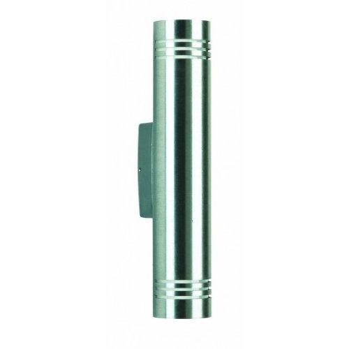 Albert 690208–Lámpara de pared, G9, 9,5x 30cm, Plata