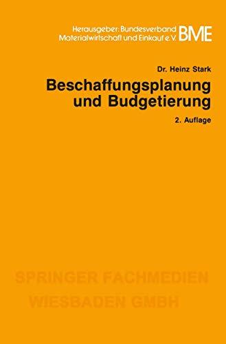 Beschaffungsplanung und Budgetierung (Gabler-Studientexte)