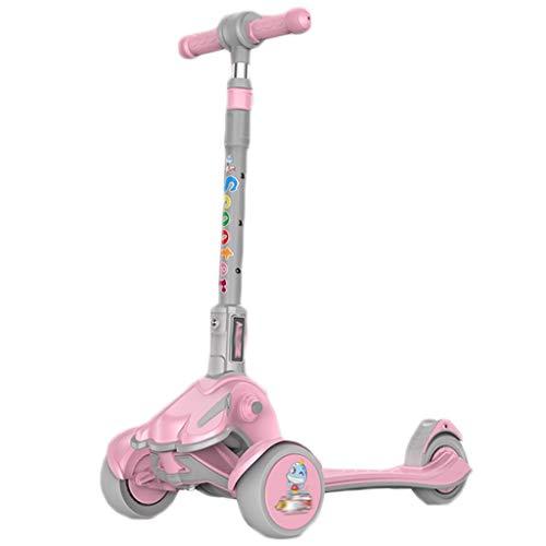 LZL Roller für Kinder Falten Sie Roller, einstellbare Höhe, extra breites Deck, leuchten Räder, leicht Lernen...