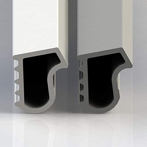 Stahlzargendichtung Grau 30m - gegen Staub Lärm und Zugluft spart Heizkosten Dichtung Dichtungshöhe 17mm Dichtungsbreite Zargendichtung Falz Türdichtung