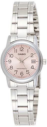 Casio Women's LTPV002D-4B Silver Stainless-Steel Japanese Quartz Fashion Watch