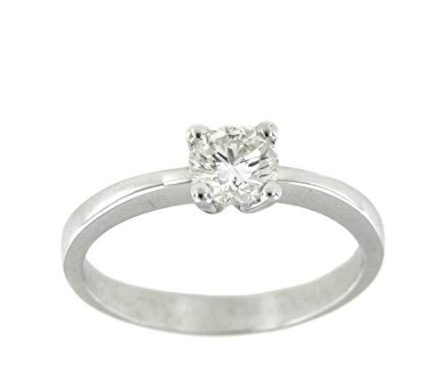 ROMAN JOYERO Anillo de Compromiso Amore Oro Blanco 18 Kts con Diamantes