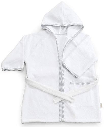 Italbaby 050.4005-05 Accappatoio Spugna per Neonati 0-6 Mesi Bianco - 550 g