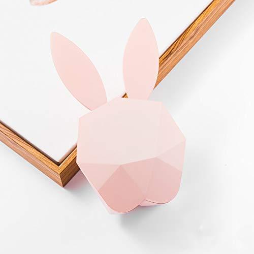 HiXB Snooze Alarm Clock NO Ticking Conejo Creative Alarm Clock Gift for Girls Niños Niños,Pink