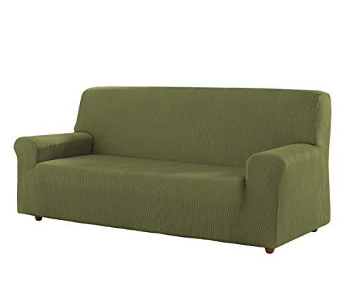 Estoralis Berto Funda de sofá elástica, Tela, Verde, 3 Plazas