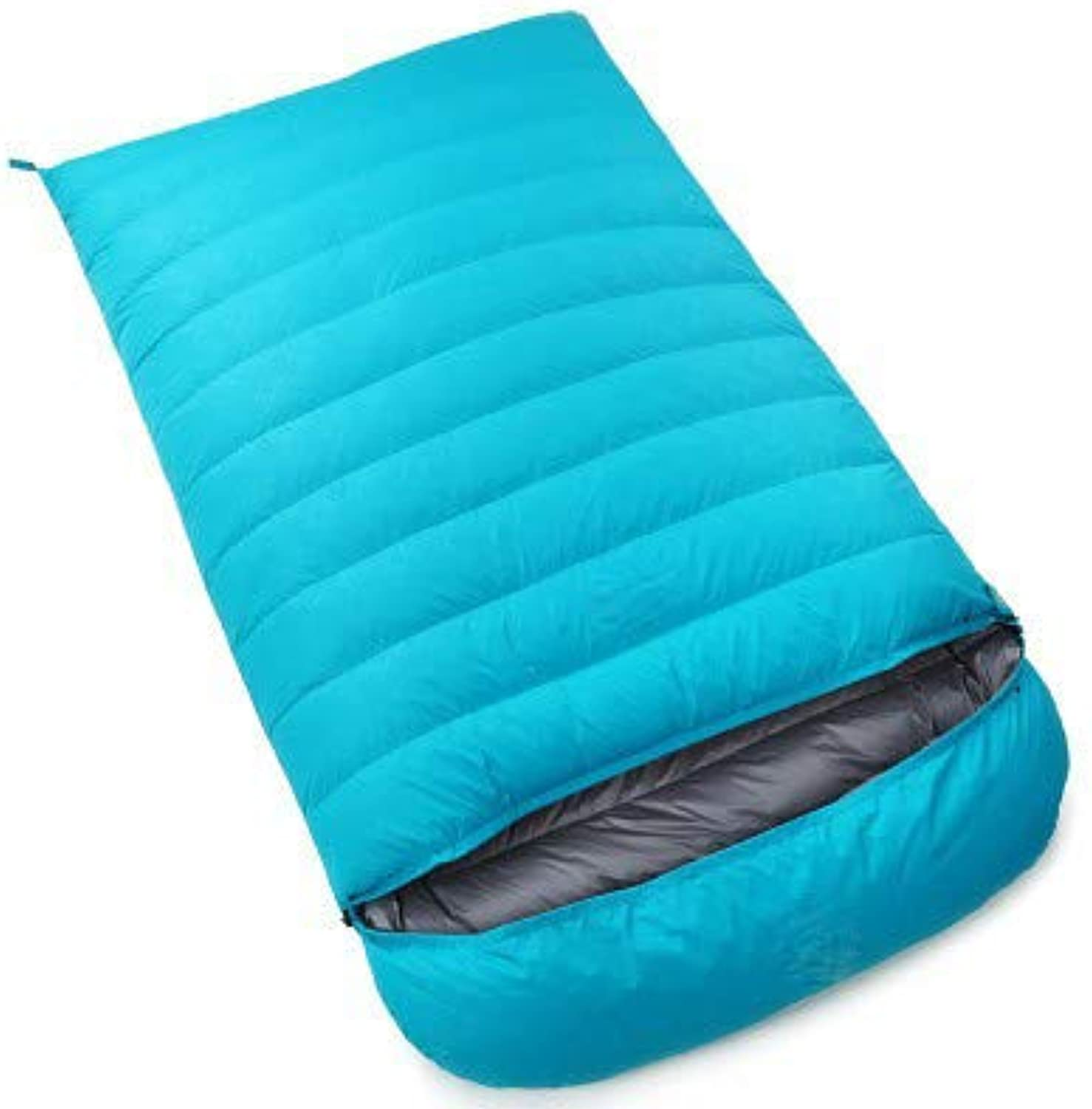 1200g Velvet Outdoor Adult Camping Down Sleeping Bag Four Seasons Mountaineering Envelope Type Double Couple Ultra Light Down Sleeping Bag Warm