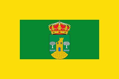 magFlags Bandera Large Municipio de Abrucena Almería - España Según la descripción Paño Rectangular de Proporciones 1 1,5 de Color Verde | Bandera Paisaje | 1.35